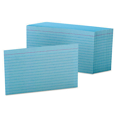 Oxford Ruled Index Cards 4 x 6 Blue 100/Pack 7421BLU