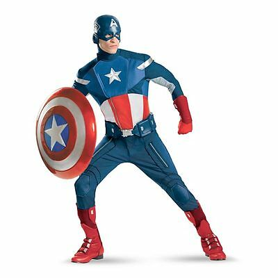 Halloween Theatre Captain America Costume Avengers Edition Complete w/ Shield