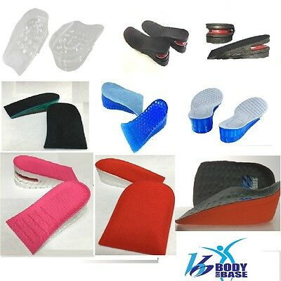 Height Adjusting Inserts Insoles upto 5cm Silicone Air bubble Taller Full Range