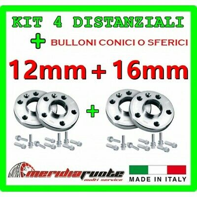 KIT 4 DISTANZIALI X BMW SERIE 3 COUPE (E92) 2006-2012 PROMEX ITALY 12mm + 16mm