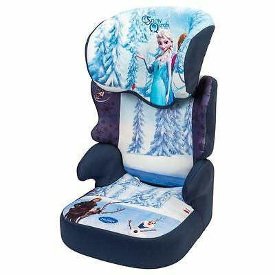 Toddler Car Seat High Back Booster Cover Kids Frozen Child Height Adjustable