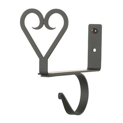 Heart - Curtain Shelf Brackets PAIR 4 3/4 In. x 7 1/2 In. x 6 1/4 In.