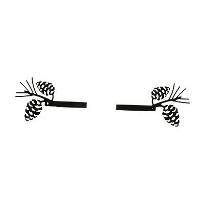 Pinecone - Curtain Tie Backs PAIR 6 In. x 3 3/4 In. x 3 1/4 In