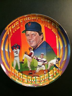 TOM SEAVER Signed SPORTS IMPRESSIONS Plate Sports Superstar Collector Series COA