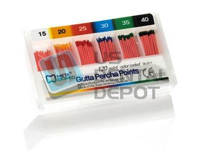 META - Gutta Percha Points Color Coded Spill Proof  #45-80-  107610