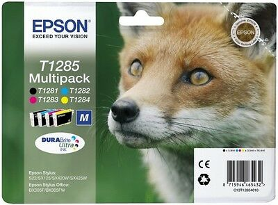 Epson T1285 MULTIPACK Ink Cartriges - NEW, Original Genuine * HUGE DISCOUNT*