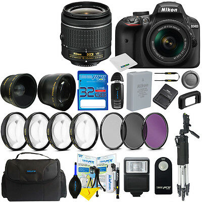 Nikon D3400 Digital SLR Camera Body 3 Lens Kit 18-55mm Lens + 32GB I3ePro Bundle