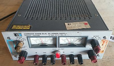 HP 6205B Harrison Dual DC Power Supply  0 to 20V / 0.6A & 0 to 40V / 0.3A USED