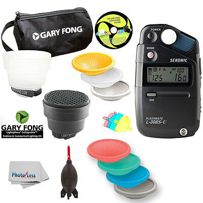 Gary Fong Lightsphere Kit Fashion & Commercial+Sekonic L308 Flashmate Lightmeter