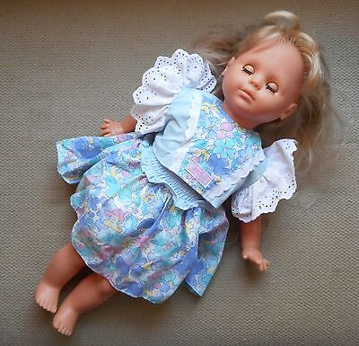 """Vintage Max Zapf 20"""" Blonde Hair/blue Eyed Doll-West Germany-1986-Guc"""