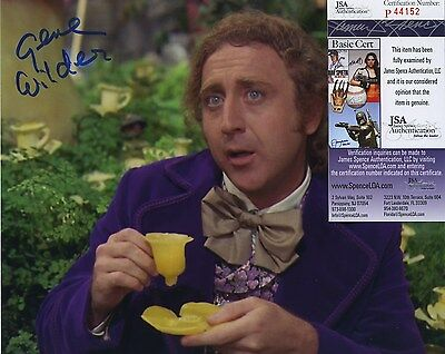 99GENE WILDER SIGNED AUTOGRAPHED WILLY WONKA COLOR 8x10 PHOTO JSA SPENCE COA