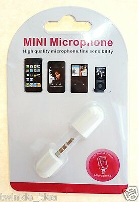 [COMS] Mini Mic Microphone Voice Recorder for Androidphone/iPhone/iPod (White)