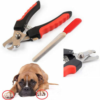 Stainless Steel Pro Nail Clipper Cutter Scissor For Pets Dog Cat Bird Guinea RF