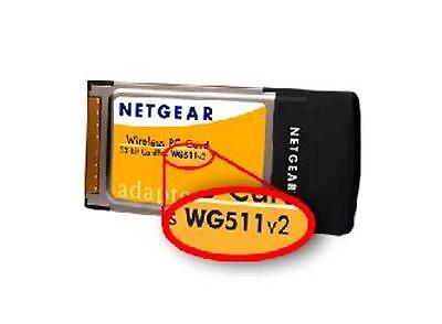 NETGEAR WG511GE WG511 V2 2.4GHz 802.11g 54Mbps WIRELESS PCMCIA Card
