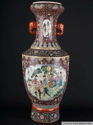 China 20. Jh. Große Bodenvase - A Large Chinese Porcelain Vase Chine Vaso Cinese