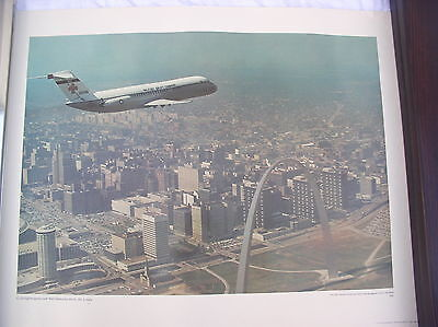 1969 US AIR FORCE PHOTO  POSTER  17X22in C-9  NIGHTINGAL PLANE