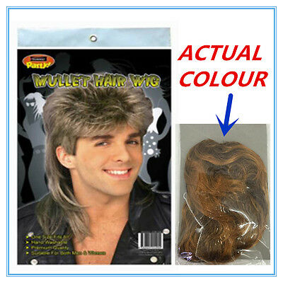 Mullet Novelty Hair Wig - Sandy Blonde Colour Color - Adult - Party Custom A