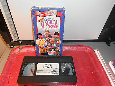 wee sing grandpas magical toys mca vhs video oop lively