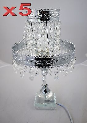 5pc Wholesale Crystal Bedside Table Lamp Light Clearance Sale