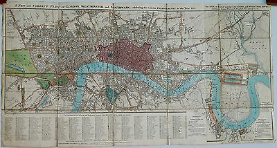 Antique maps, Rowe's map of London, 1811