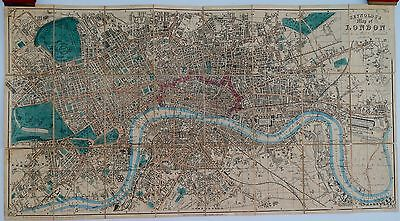Antique maps, Reynolds's Map of London with the latest improvements, 1851