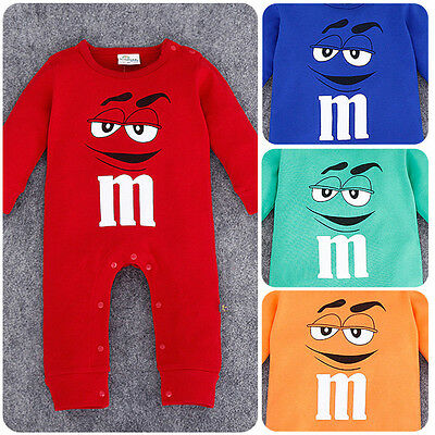Infant Toddler Baby Boys Girls Playsuit Jumpsuit Romper Outfit Clothes