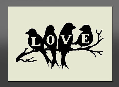 Love Birds Stencil - Various Sizes - Made From High Quality Mylar