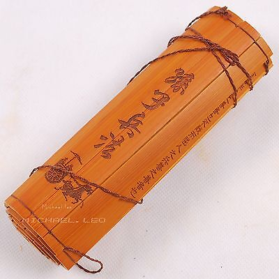 """Rare Ancient Antiquity Chinese Bamboo Book """"The Art of War"""""""