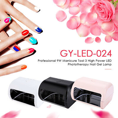 GY - LED - 024 Professional 9W Manicure Tool 3 High Power LED Nail Gel Lamp AUS