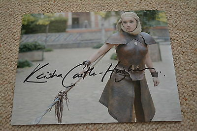 KEISHA CASTLE-HUGHES signed Autogramm 20x25 cm In Person GAME OF THRONES