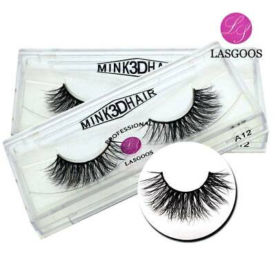 d675ebd131d 2Pair 100% Siberian Mink Fur Natural Corner Thick 3D False Eyelashes Fake  Lashes