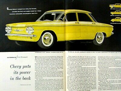"1960 Chevrolet Corvair Ad Article-8.5 x 10.5""Dan Todd-Original Print Ad"