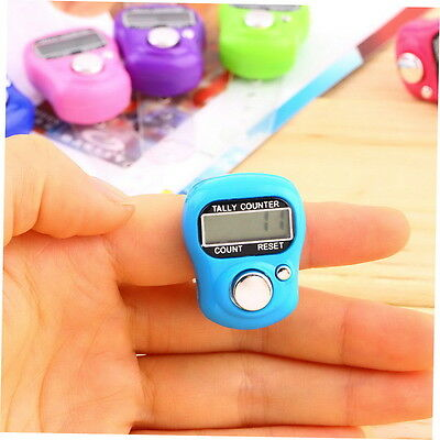 Stitch Marker And Row Finger Electronic Digital LCD Tally Counter Random Color