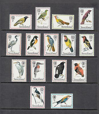BIRDS - Swaziland  - 1976 set of 15 (SC 244-58)- MNH- X979