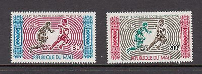 FOOTBALL/SOCCER - Mali  1970  AIRMAIL set of 2-  (SC C101-2)- MH- Y413