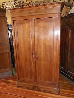 "Antique French LOUIS PHILIPPE Cherry Armoire Beautiful Wood H 87"" x W 53"" 1850's"