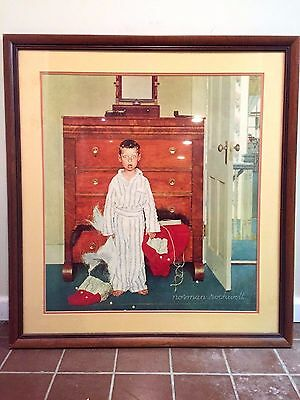 Norman Rockwell The Discovery Collotype Max Jaffe Vienna Curtis Publishing 31X27