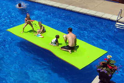 Floating Water Mat - 15'x6' - Lime and Orange colour (FLT003)