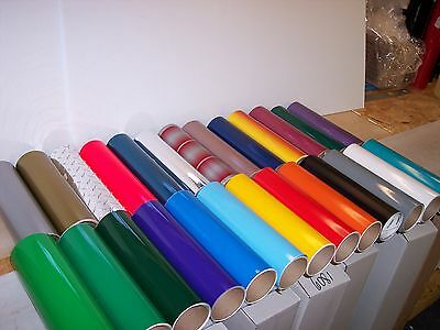"""100 Self adhesive Hobby/Sign vinyl sheets ( Odd Sizes, most at least 6"""" x 12"""")"""