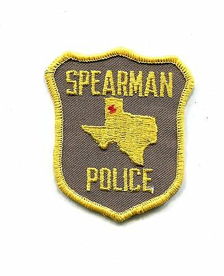Spearman TX Police Department Patch