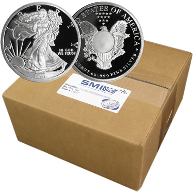 Lot of 500 - 1 Troy oz Sunshine Walking Liberty .999 Silver Round Mint Mark SI