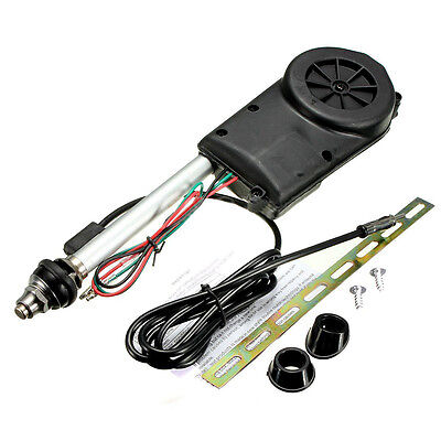 Car Electric Aerial Radio Automatic Booster Power Antenna Kit Black S*