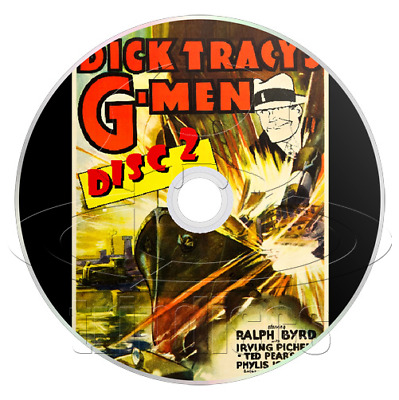 Dick Tracy's G-Men (1939) Complete 15 Chapter Serial (2 x DVD)
