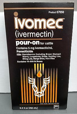 Ivomec Pour On 250ml for Cattle Parasiticide Merial