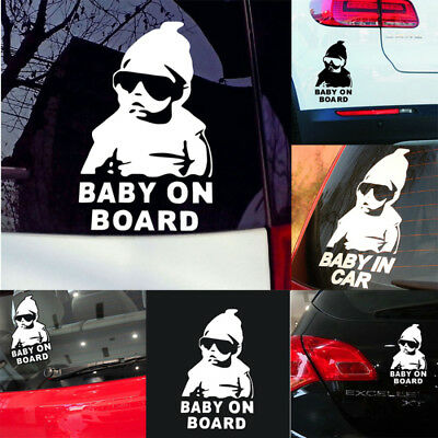 Safety Cool Baby on Board Vinyl Car Sticker with sunglasses Decal Sign Window i