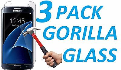 3x 9H BALLISTIC TEMPERED GORILLA GLASS SCREEN PROTECTOR FOR SAMSUNG GALAXY S7