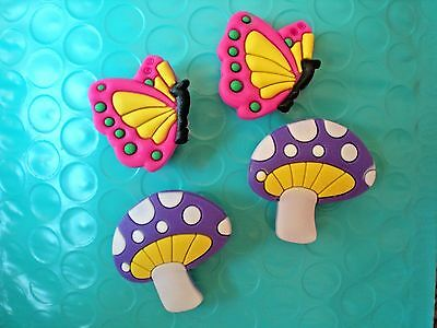 Clog Shoe Charm Plug 4 Mushroom Butterfly Accessories Bands Sandal s