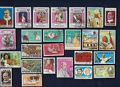 25 POPES on Stamps