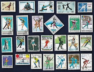 25 SKATING on Stamps