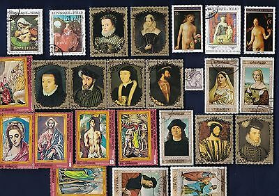 25 ART: RENAISSANCE ART on Stamps